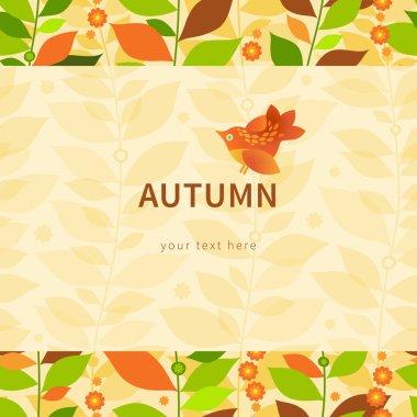Autumn concept seamless border.