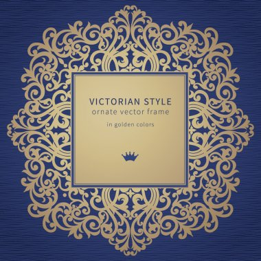 Golden frame in Victorian style.