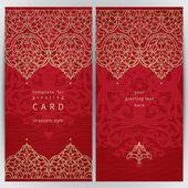 díszes kártya keleti stílusban.