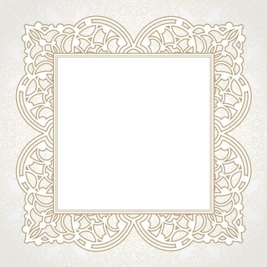 Lace frame in Eastern style.