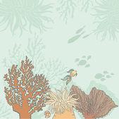 Fotografie schönes Meer Lafe Hintergrund mit Korallen, Fische, Fossilien gezeichnet ich