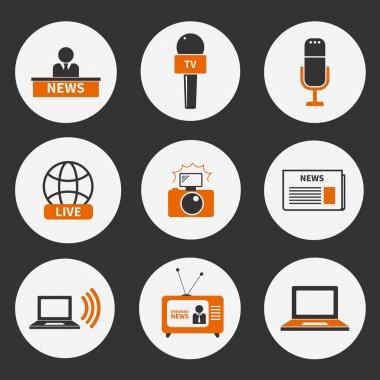 Journalism Icons Set