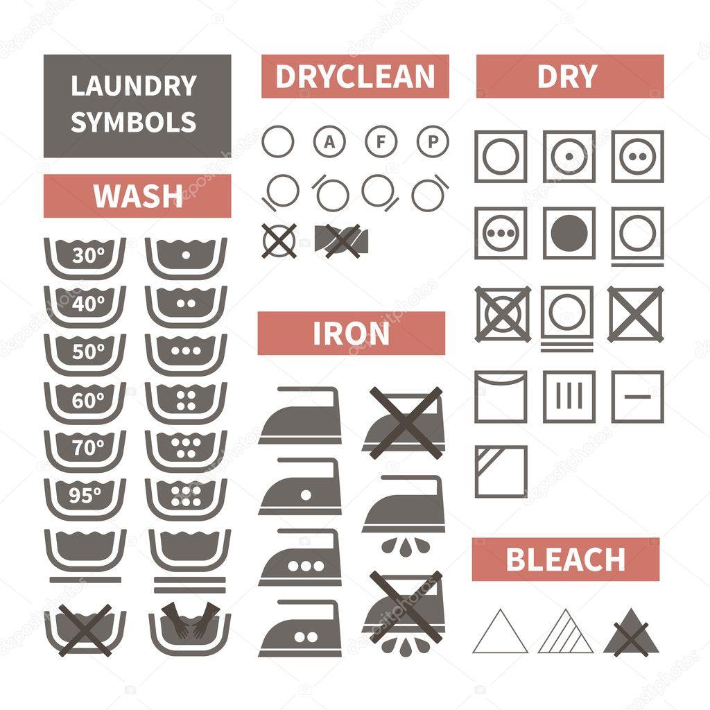 Laundry symbols stock vector favetelinguis199 50904219 laundry symbols stock vector buycottarizona