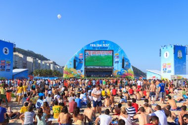 RIO DE JANEIRO - June 15: People watch game at the FIFA Fan Fest
