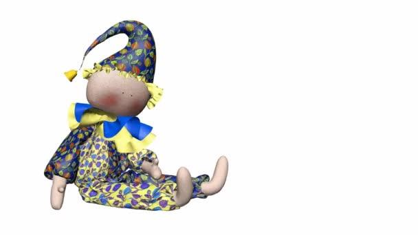 nádherné harlekýn. 3D panenka se otáčí kolem své osy