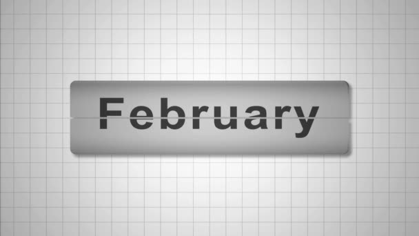 Months Of The Year. Loose-leaf Calendar. This video was created in the program Adobe After Effects.