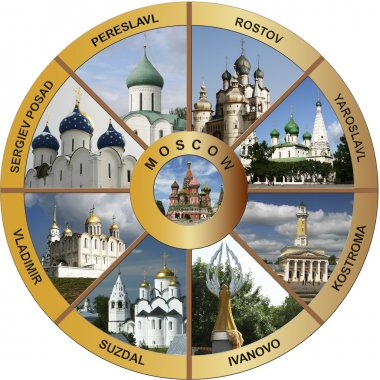 Golden ring of Russia - collage EN