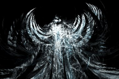 Abstract angel background