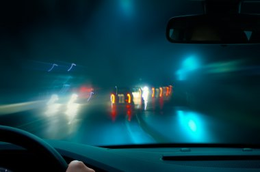 Bad weather night driving