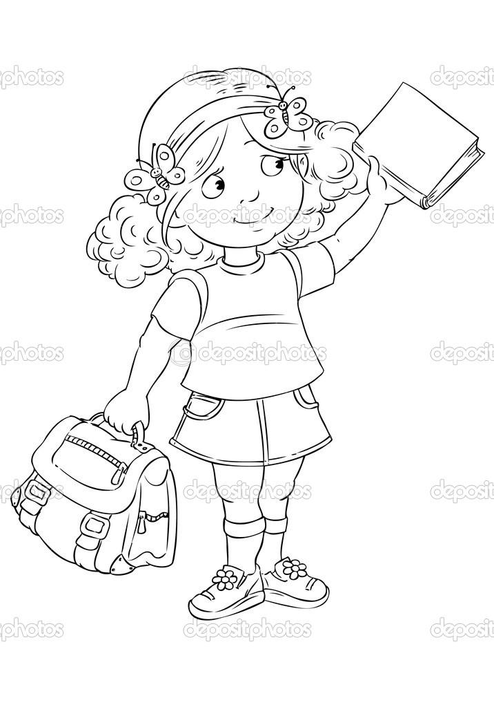 школьница — Векторное изображение © passengerz #38175361