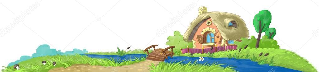 Fairy house near the river