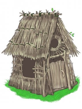 Fairy house from Three Little Pigs fairy tale
