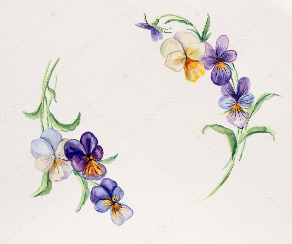Dibujos: flores color violeta   marco de violetas. dibujos de boda ...