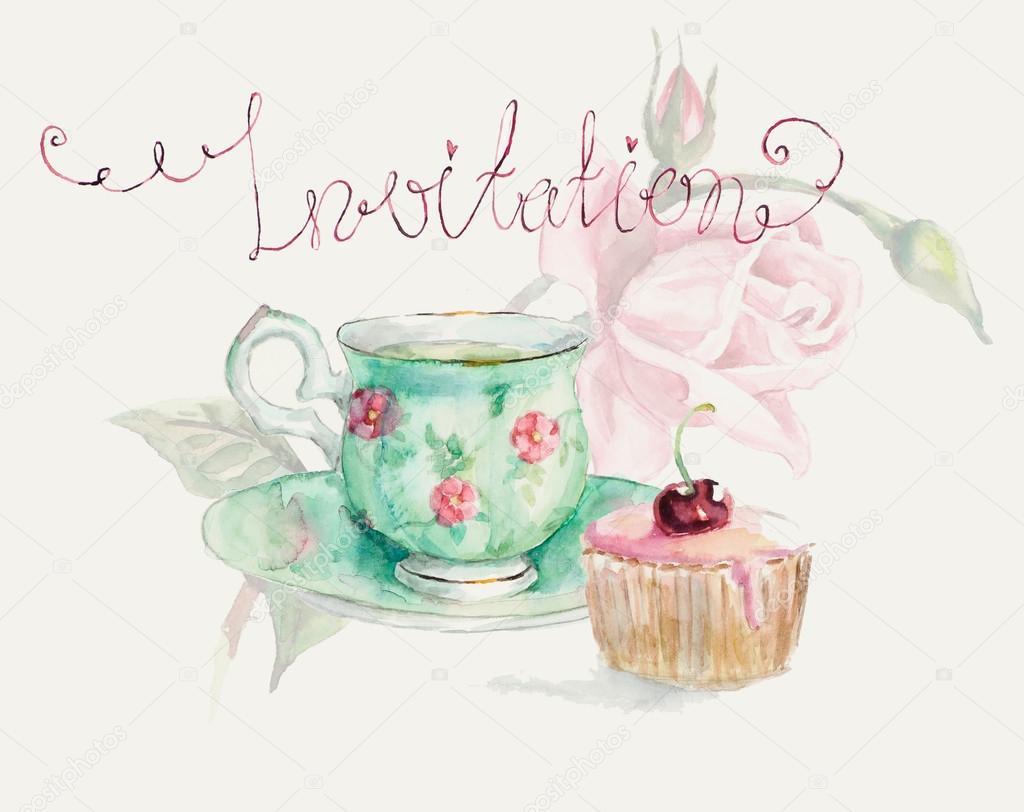 Tea Time A Cup Of Tea And Cake Stock Photo 169 Budogosh