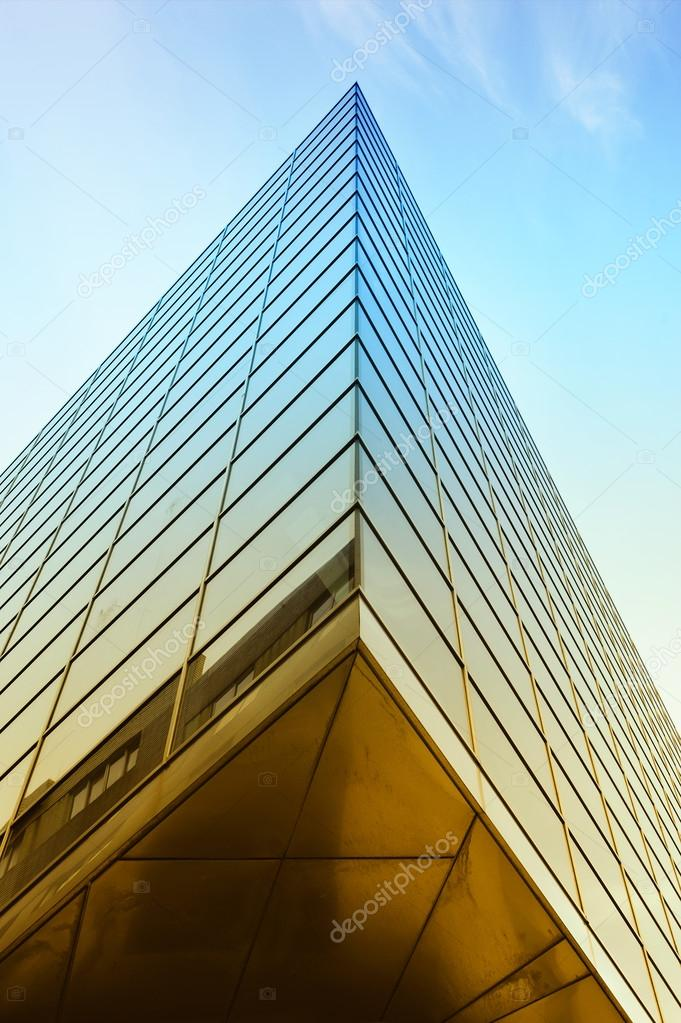 Modern Architecture Of Steel And Glass Buildings Stock Photo
