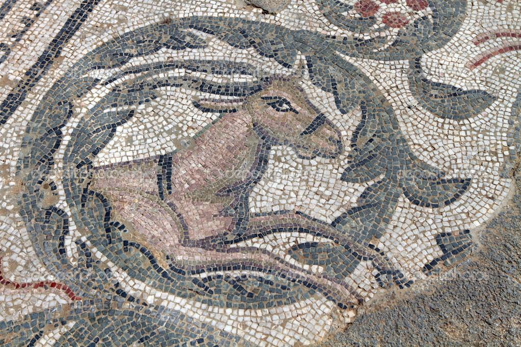 oude herten moza ek vloer van villa romana del casale in sicili stockfoto ohmaymay 46986471