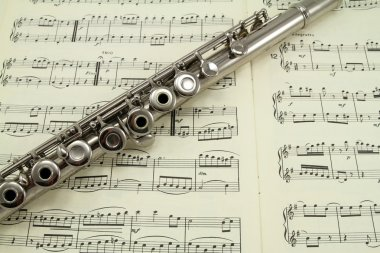Flute on a Music Book