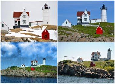 Collage of Cape Neddick Lighthouse, Maine, USA