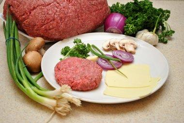 Hamburger Patty with Heathly Ingredients