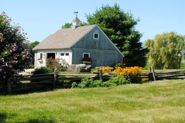 Country Barn on a Landscaped Country Farm