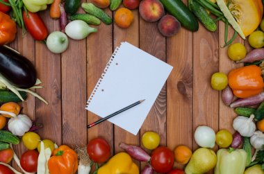 vegetables and fruits composition