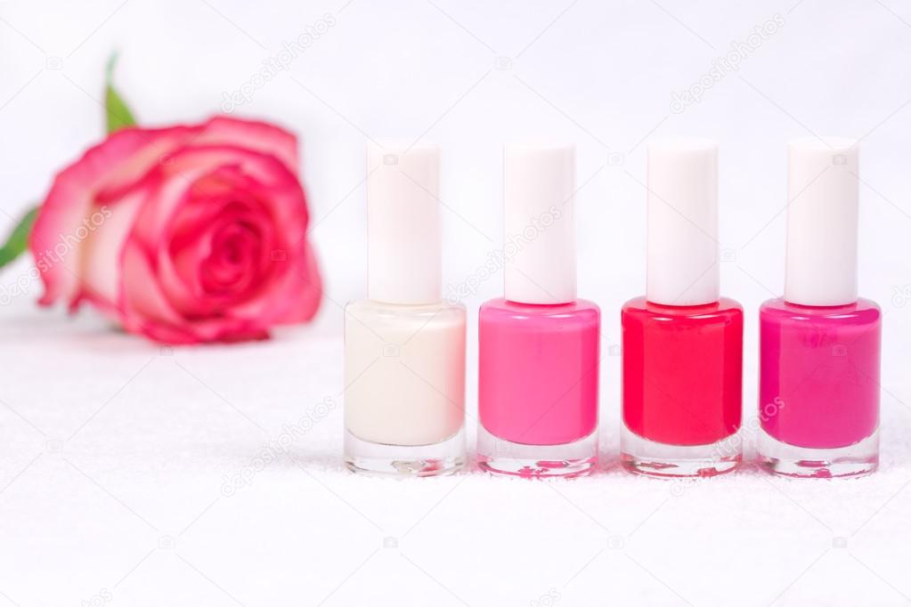 french manicure Nail polish set — Stock Photo © vvvita #49674211