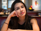 Fotografie Schöne junge Frau