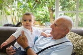 Baby boy with great grandfather
