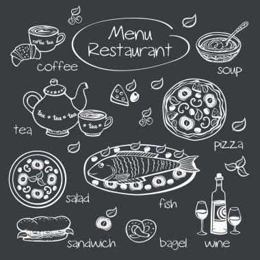 Restaurant menu. Vector illustration.