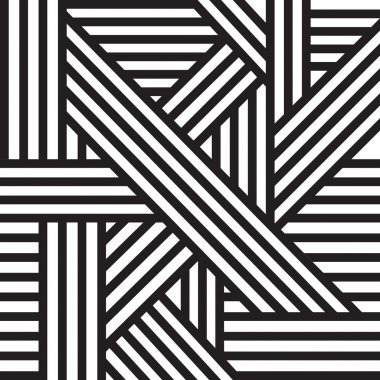Abstract seamless pattern. Black and white lines.