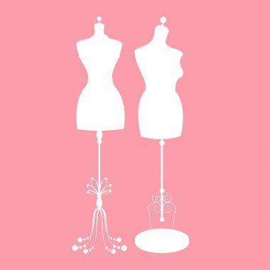 vector vintage tailors mannequin with size measurements