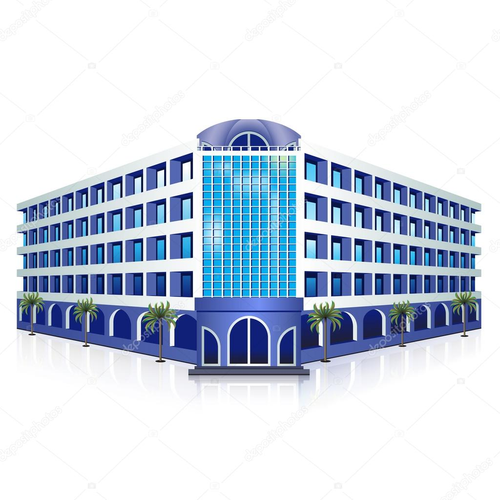 icon hotel: rest, sea, sun, palm trees