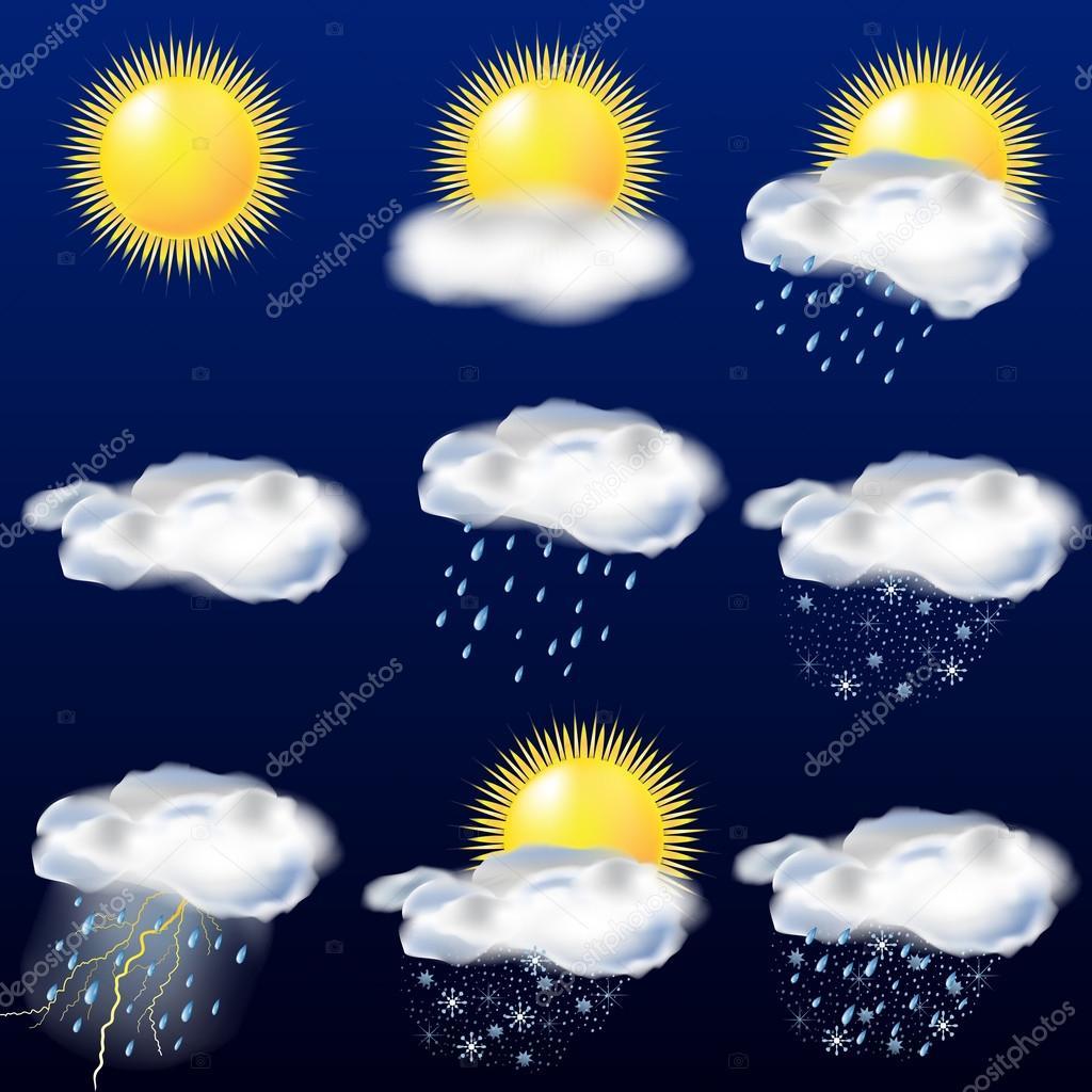 El tiempo en iconos sol lluvia nieve archivo im genes for El tiempo en st hilari sacalm