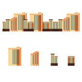 Fotografia città con grattacieli appartamento