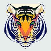 Fotografia illustrazione di moda della testa di tigre