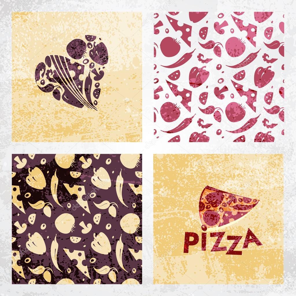 conjunto de plantillas de diseño para restaurante italiano — Vector ...