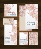 sada svatební pozvánky a oznámení
