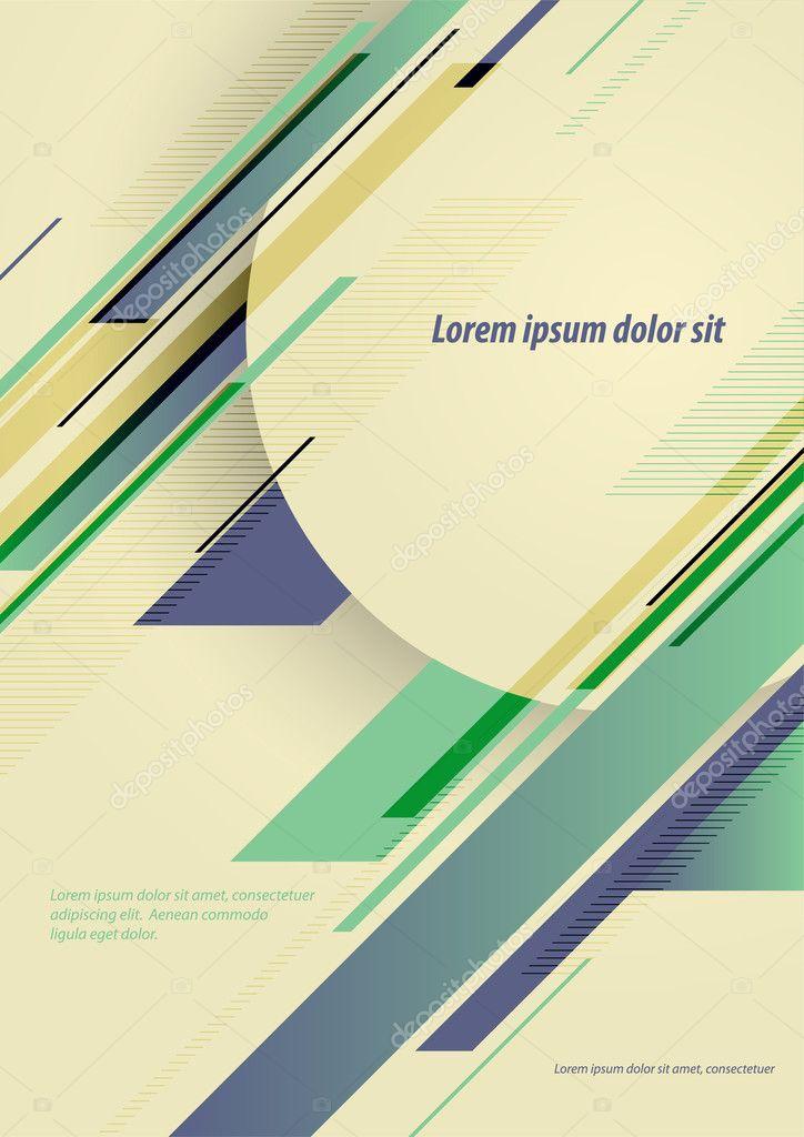 Vector poster design template