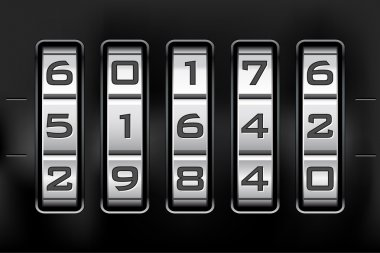 Combination lock - number code