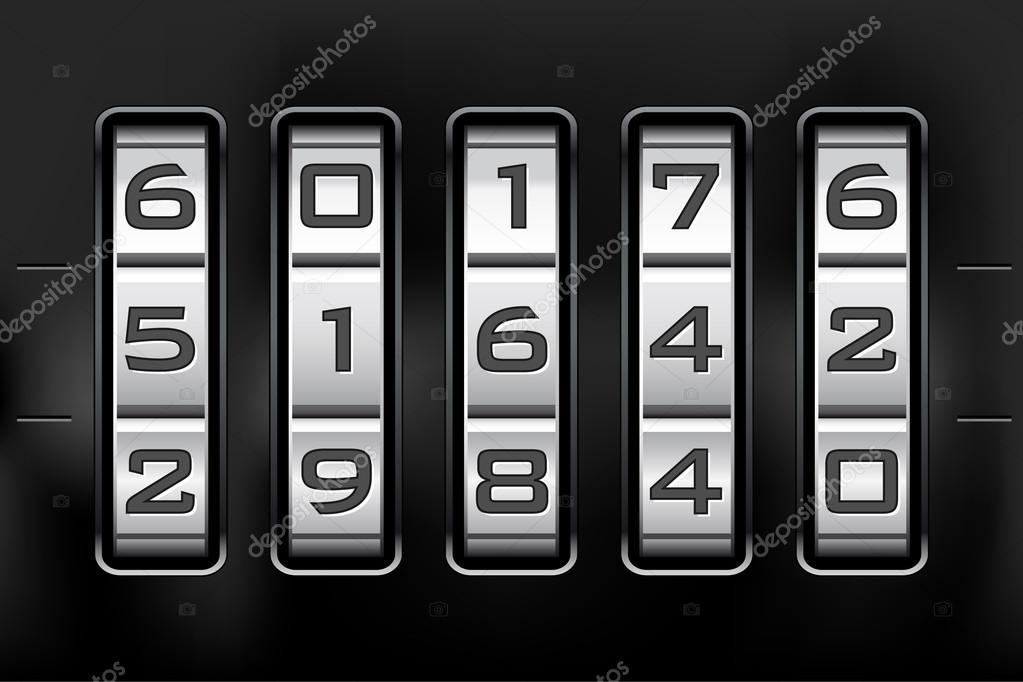 Combination lock - number code