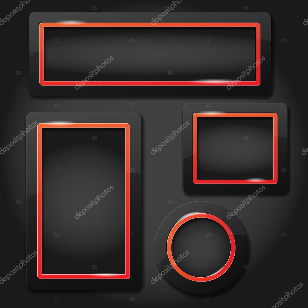 Conjunto De Marcos Modernos Brillantes Para Tu Texto Vector De - Marcos-para-fotos-modernos