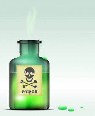 Glass bottle of poison