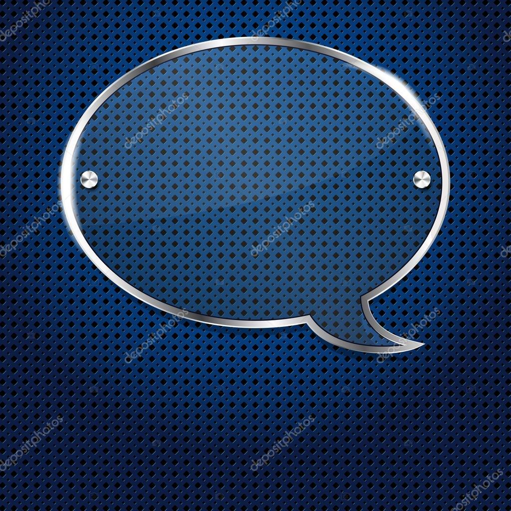 fondo azul metal con marco de burbuja de cristal para tu texto ...