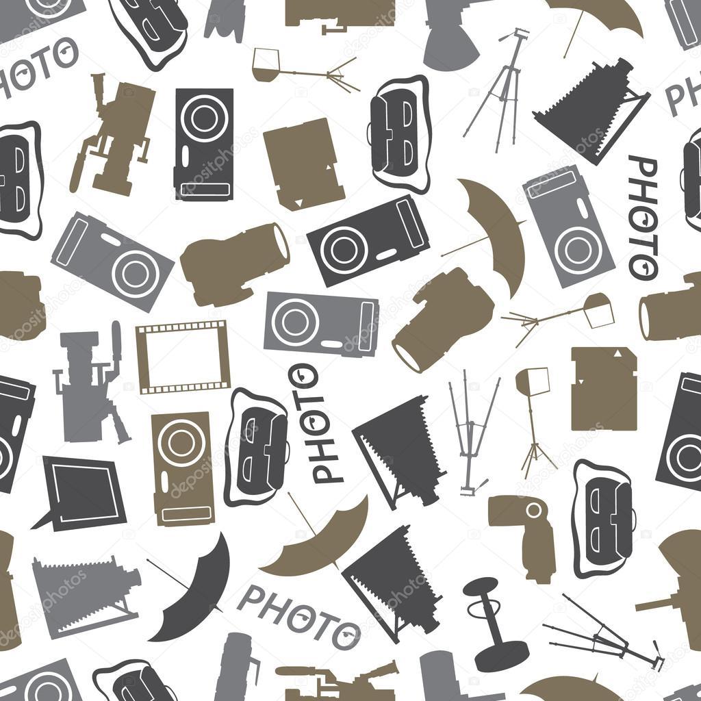 icono fotográfico color patrón eps10 — Archivo Imágenes Vectoriales ...