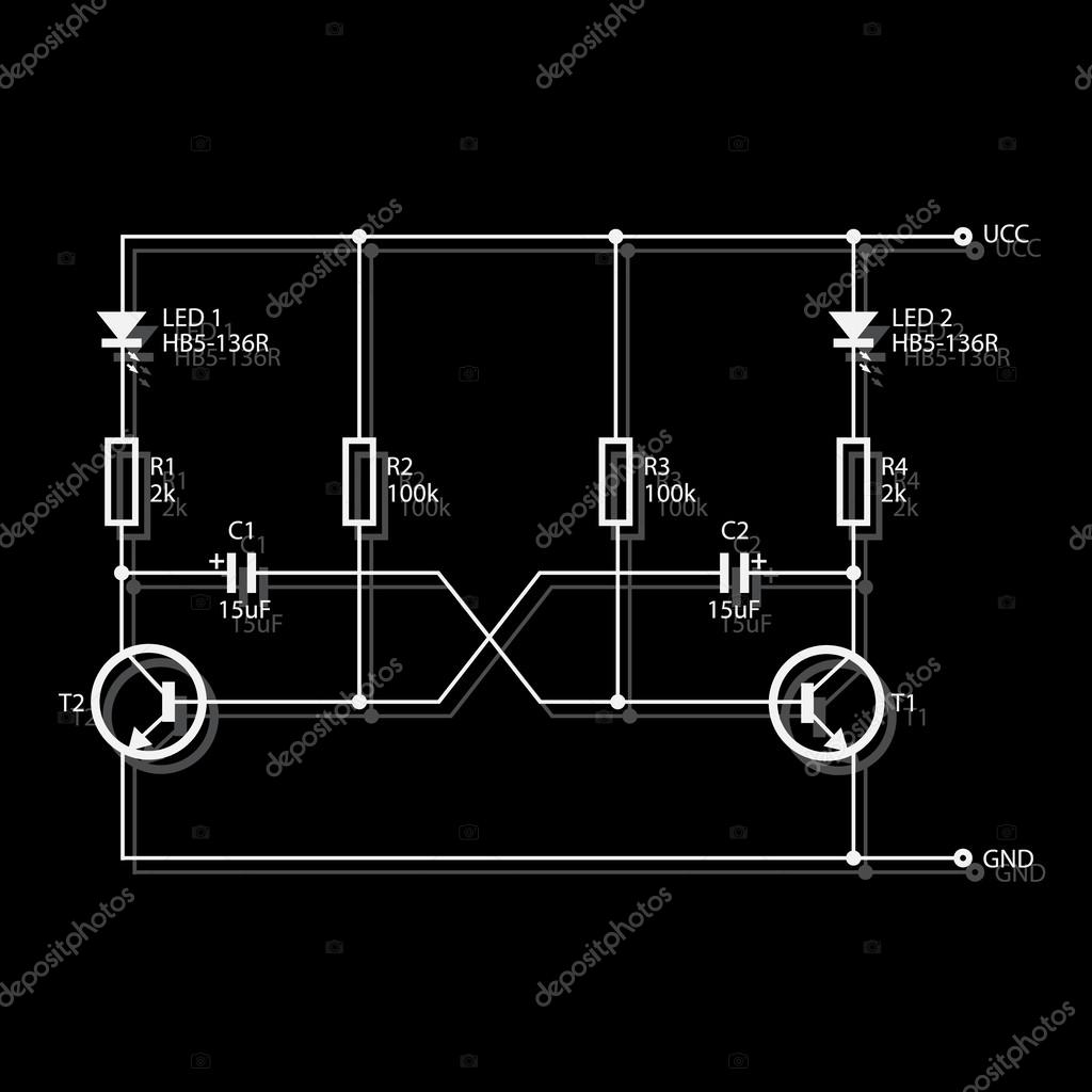 Hb5 Wiring Diagram Data Snow Dogg For Electronics Eps10 Stock Vector Martin951 Color Standards