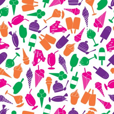 ice cream colorful seamless pattern eps10