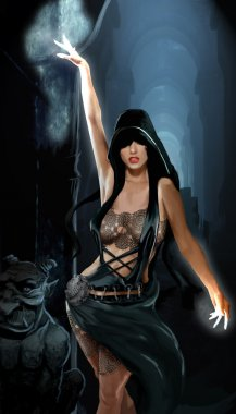 Conjuring sorceress