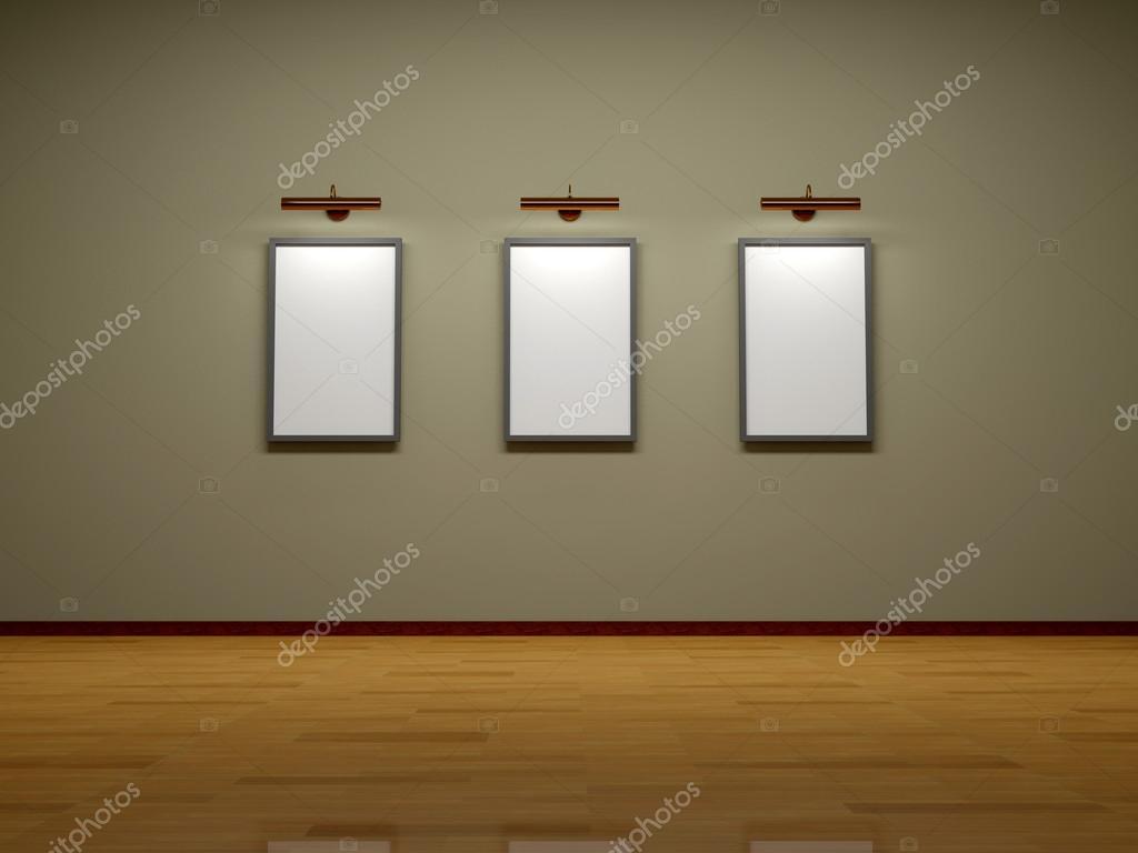 Abstrato 3d Render Quadros Na Parede Da Sala Stock Photo Vensk  -> Quadro De Parede Para Sala Abstrato