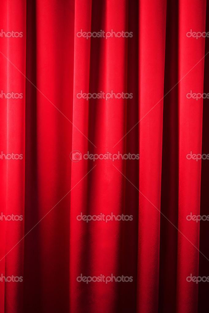 abstracte achtergrond, gordijn, gordijnen rode stof — Stockfoto ...