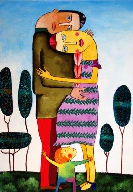 """Картина, постер, плакат, фотообои """"картина, написанная масляными красками пейзаж цветы все зимний москва"""", артикул 43322093"""